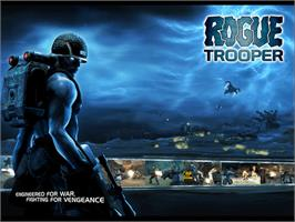 Title screen of Rogue Trooper on the Microsoft Xbox.