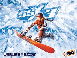 Title screen of SSX 3 on the Microsoft Xbox.