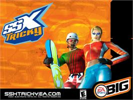 Title screen of SSX Tricky on the Microsoft Xbox.