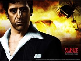 Title screen of Scarface: The World is Yours on the Microsoft Xbox.