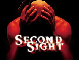 Title screen of Second Sight on the Microsoft Xbox.