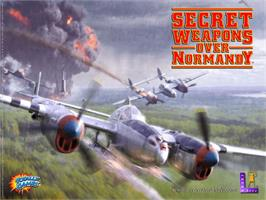 Title screen of Secret Weapons Over Normandy on the Microsoft Xbox.