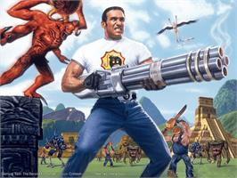 Title screen of Serious Sam 2 on the Microsoft Xbox.