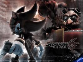 Title screen of Shadow the Hedgehog on the Microsoft Xbox.