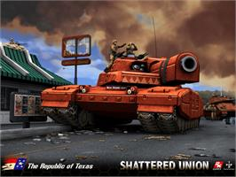 Title screen of Shattered Union on the Microsoft Xbox.