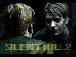Title screen of Silent Hill 2: Restless Dreams on the Microsoft Xbox.