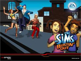 Title screen of Sims: Bustin' Out on the Microsoft Xbox.