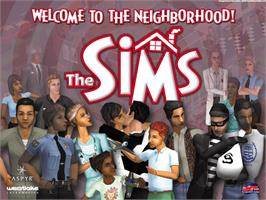 Title screen of Sims on the Microsoft Xbox.