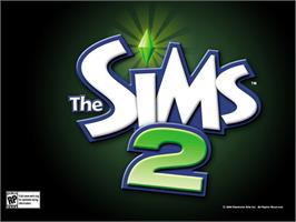 Title screen of Sims 2 on the Microsoft Xbox.