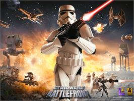Title screen of Star Wars: Battlefront on the Microsoft Xbox.