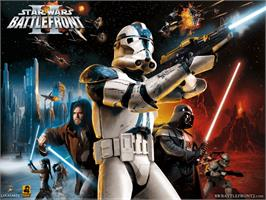 Title screen of Star Wars: Battlefront 2 on the Microsoft Xbox.