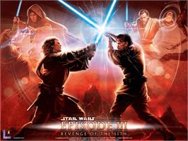 Title screen of Star Wars: Episode III - Revenge of the Sith on the Microsoft Xbox.