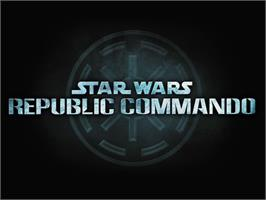 Title screen of Star Wars: Republic Commando on the Microsoft Xbox.