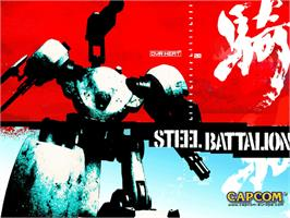 Title screen of Steel Battalion: Line of Contact on the Microsoft Xbox.