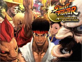 Title screen of Street Fighter: Anniversary Collection on the Microsoft Xbox.