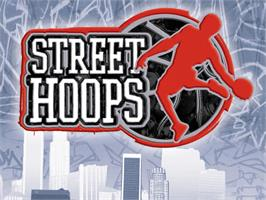 Title screen of Street Hoops on the Microsoft Xbox.