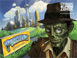 Title screen of Stubbs the Zombie in Rebel Without a Pulse on the Microsoft Xbox.