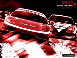 Title screen of TOCA Race Driver 3 on the Microsoft Xbox.