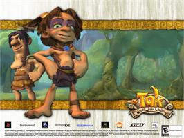 Title screen of Tak: The Great Juju Challenge on the Microsoft Xbox.