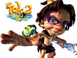 Title screen of Tak 2: The Staff of Dreams on the Microsoft Xbox.