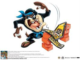 Title screen of Taz: Wanted on the Microsoft Xbox.