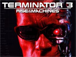 Title screen of Terminator 3: Rise of the Machines on the Microsoft Xbox.