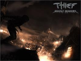 Title screen of Thief: Deadly Shadows on the Microsoft Xbox.