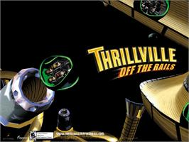 Title screen of Thrillville on the Microsoft Xbox.