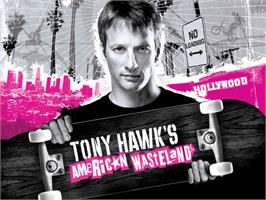 Title screen of Tony Hawk's American Wasteland on the Microsoft Xbox.