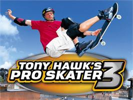 Title screen of Tony Hawk's Pro Skater 3 on the Microsoft Xbox.