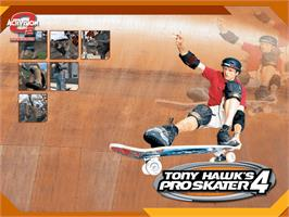 Title screen of Tony Hawk's Pro Skater 4 on the Microsoft Xbox.