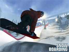 Title screen of TransWorld Snowboarding on the Microsoft Xbox.