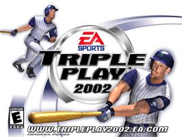 Title screen of Triple Play 2002 on the Microsoft Xbox.