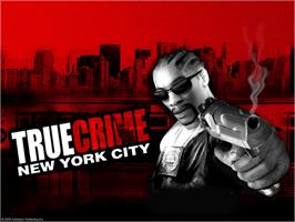 Title screen of True Crime: New York City on the Microsoft Xbox.