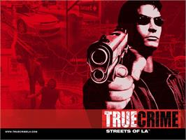 Title screen of True Crime: Streets of LA on the Microsoft Xbox.