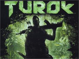 Title screen of Turok: Evolution on the Microsoft Xbox.