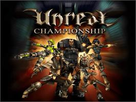 Title screen of Unreal Championship on the Microsoft Xbox.