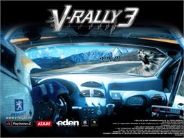 Title screen of V-Rally 3 on the Microsoft Xbox.