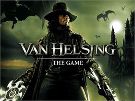 Title screen of Van Helsing on the Microsoft Xbox.