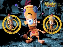 Title screen of Voodoo Vince on the Microsoft Xbox.