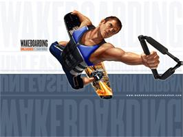 Title screen of Wakeboarding Unleashed featuring Shaun Murray on the Microsoft Xbox.