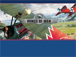Title screen of Wings of War on the Microsoft Xbox.