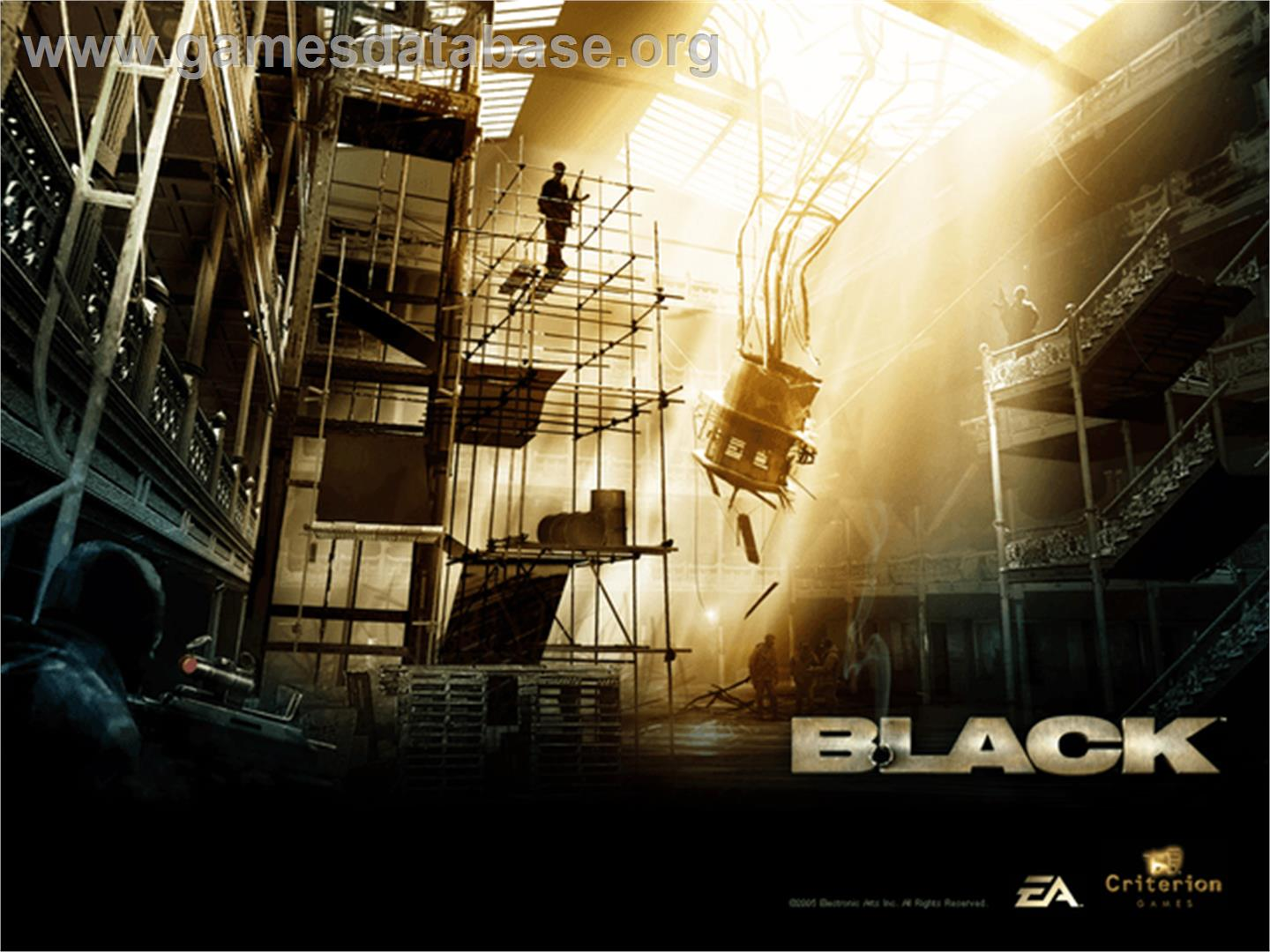 Black - Microsoft Xbox - Artwork - Title Screen