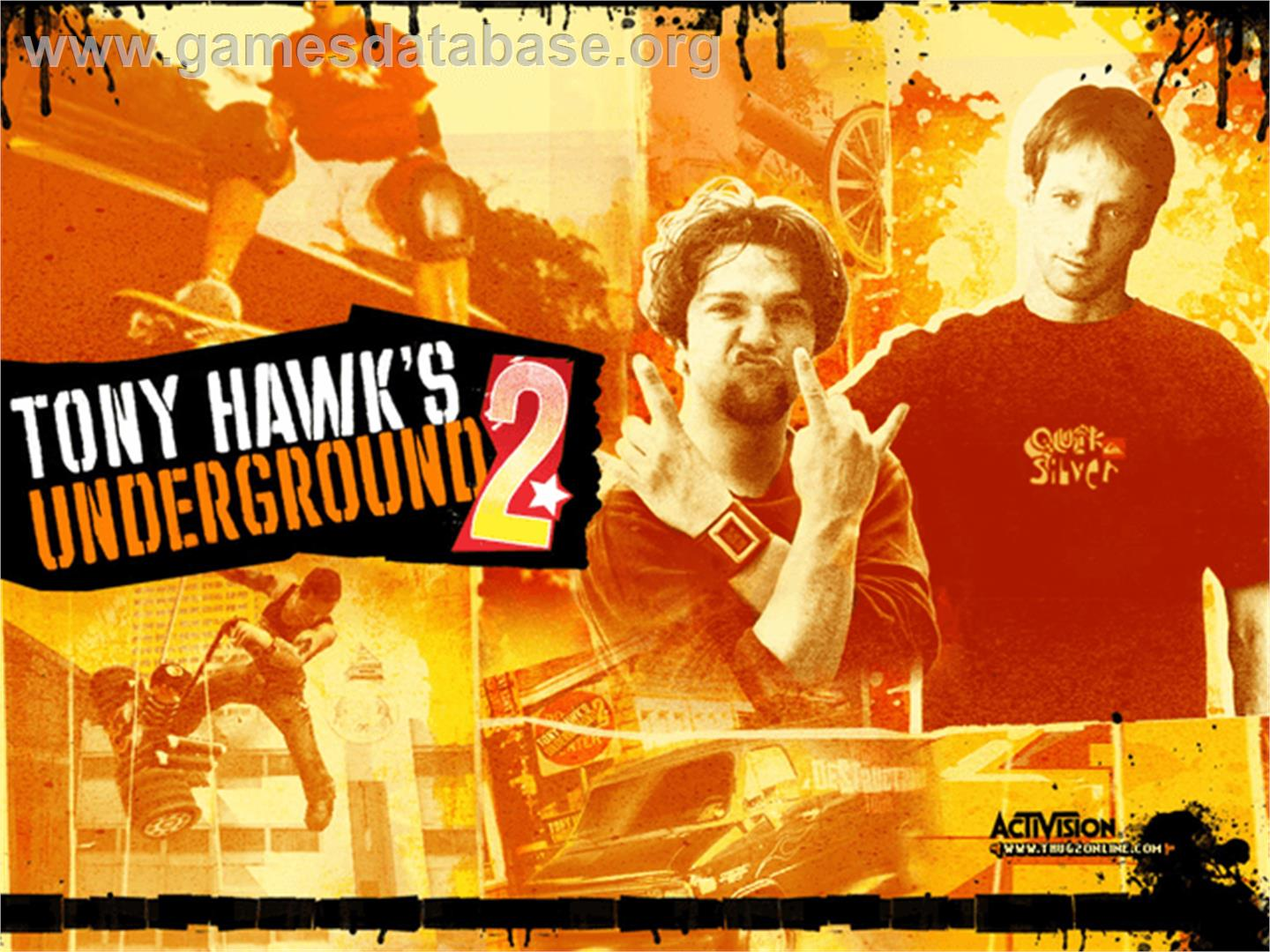 Tony Hawk's Underground 2 - Microsoft Xbox - Artwork - Title Screen