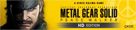 Banner artwork for MGS PW HD.