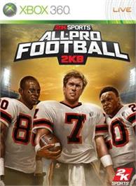 Box cover for All Pro Football 2K8 on the Microsoft Xbox 360.