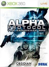 Box cover for Alpha Protocol on the Microsoft Xbox 360.