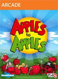 Box cover for Apples to Apples on the Microsoft Xbox 360.