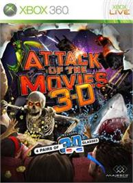 Box cover for AttackOfTheMovies3D on the Microsoft Xbox 360.