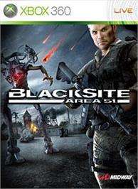 Box cover for Blacksite on the Microsoft Xbox 360.